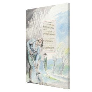 'Elegy written in a Counrty Church-Yard', design 1 Canvas Print