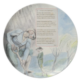 'Elegy written in a Counrty Church-Yard', design 1 Melamine Plate