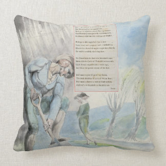 'Elegy written in a Counrty Church-Yard', design 1 Throw Pillow