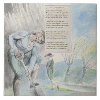 'Elegy written in a Counrty Church-Yard', design 1 Tiles