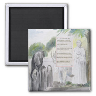 'Elegy written in a Country Church-Yard', design 1 2 Inch Square Magnet