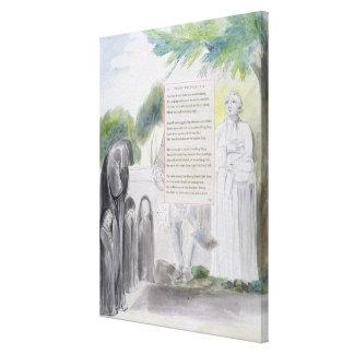 'Elegy written in a Country Church-Yard', design 1 Canvas Print