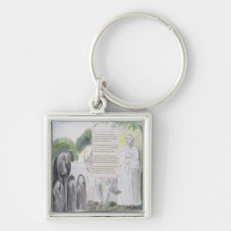 'Elegy written in a Country Church-Yard', design 1 Keychain