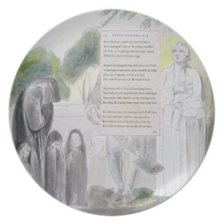 'Elegy written in a Country Church-Yard', design 1 Melamine Plate