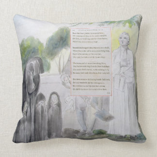 'Elegy written in a Country Church-Yard', design 1 Throw Pillow