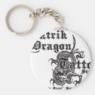 Elektrik Dragon Tattoo Basic Round Button Keychain