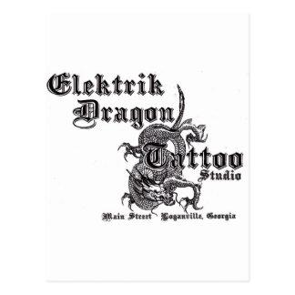 Elektrik Dragon Tattoo Postcard