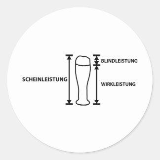 elektriker classic round sticker