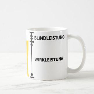 elektriker classic white coffee mug