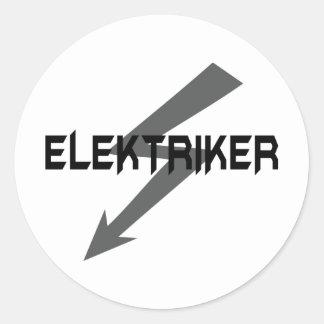 elektriker icon classic round sticker