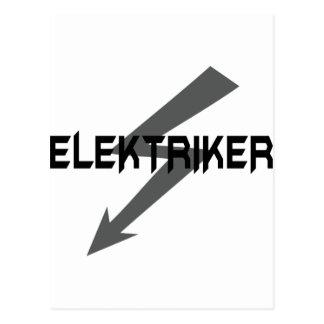 elektriker icon postcard
