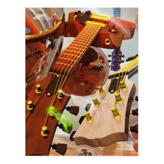 Elektro gitar tarjetas postales