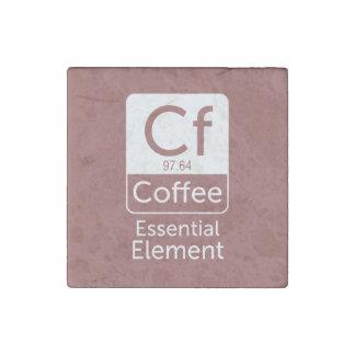 Elem esencial del café del chiste del retruécano imán de piedra