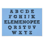 Elemenopee Alphabet Funny Poster Sign