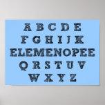 Elemenopee Alphabet Funny Poster Sign