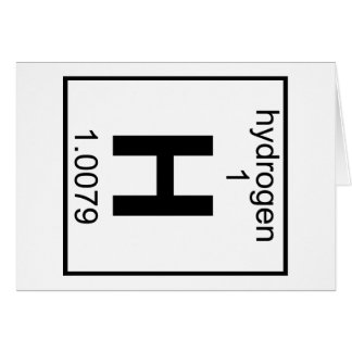 Element 001 - Hydrogen (Full) (t) Greeting Cards