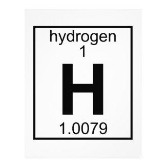 Element 001 - Hydrogen (Full) (t) Letterhead