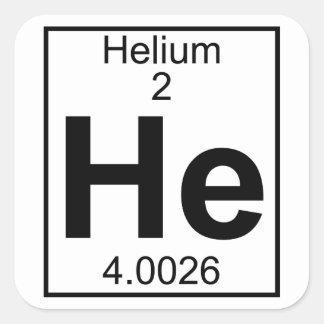 Element 002 - He - Helium (Full) Square Sticker