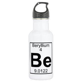 Element 004 - Be - Beryllium (Full) 18oz Water Bottle