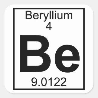 Element 004 - Be - Beryllium (Full) Square Sticker