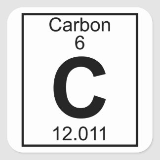 Carbon periodic table gifts on zazzle element 006 c carbon full square sticker urtaz Image collections