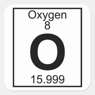 Element 008 - O - Oxygen (Full) Square Sticker