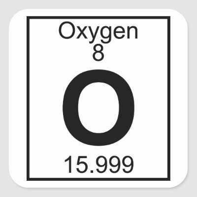 O oxygen chemistry periodic table symbol square sticker zazzle urtaz Gallery