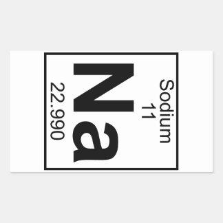 Element 011 - Na - Sodium (Full) Rectangular Sticker