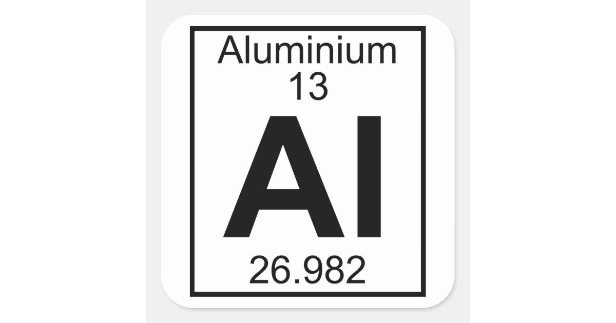 Element 013 Al Aluminium Full Square Sticker Zazzle
