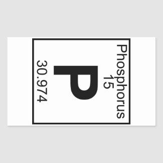 Element 015 - P - Phosphorus (Full) Rectangular Sticker