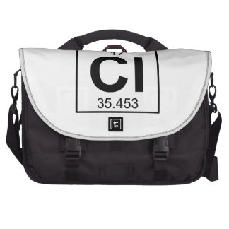 Element 017 - Cl - Chlorine Full Bag For Laptop