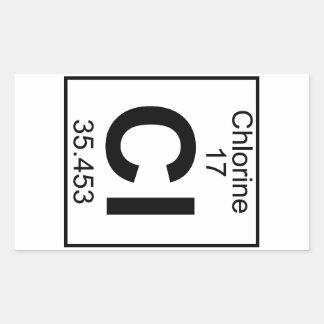 Element 017 - Cl - Chlorine (Full) Rectangular Sticker