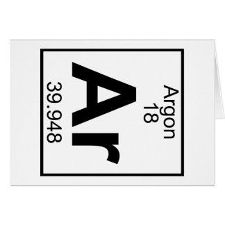 Element 018 - Ar - Argon (Full) Greeting Card