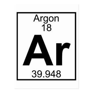 Element 018 - Ar - Argon Full Postcards
