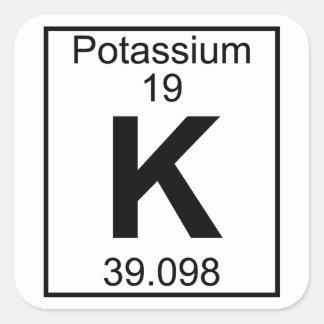 Element 019 - K - Potassium (Full) Square Sticker