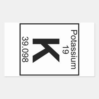 Element 019 - K - Potassium (Full) Rectangular Sticker
