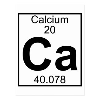 Element 020 - Ca - Calcium (Full) Postcard