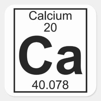 Element 020 - Ca - Calcium (Full) Square Sticker