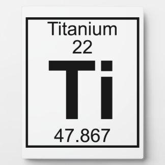 Element 022 - Ti - Titanium (Full) Plaque