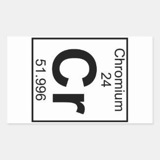 Element 024 - Cr - Chromium (Full) Rectangular Sticker