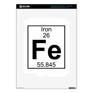 Element 026 - Fe - Iron Full Decals For iPad 3
