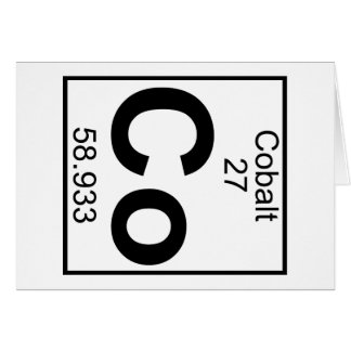 Element 027 - Co - Cobalt (Full) Greeting Card