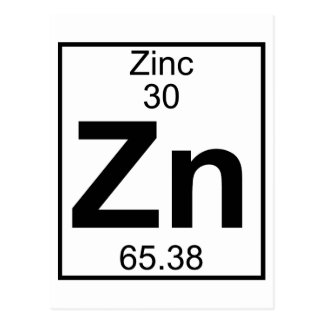Element 030 - Zn - Zinc (Full) Postcard