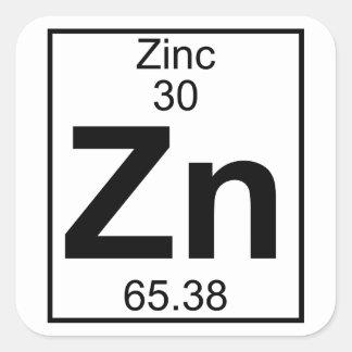 Element 030 - Zn - Zinc (Full) Square Sticker