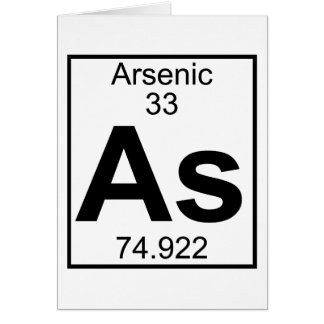 Element 033 - As - Arsenic (Full) Greeting Card