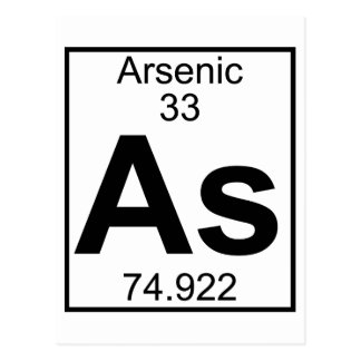 Element 033 - As - Arsenic (Full) Postcard