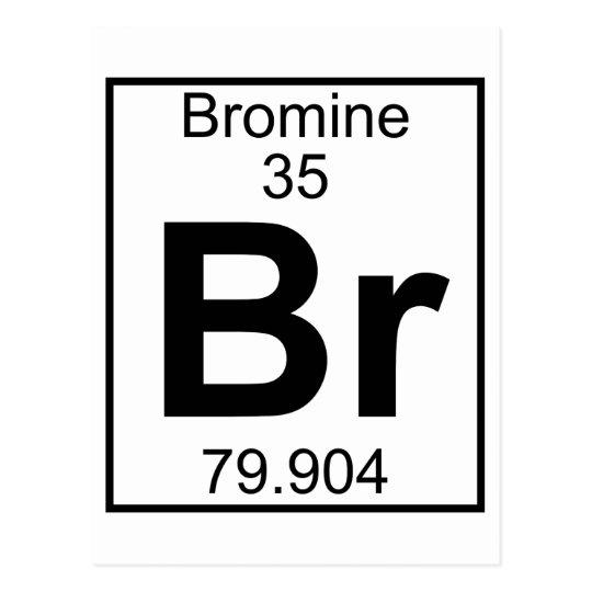 Element 035 Br Bromine Full Postcard Zazzle
