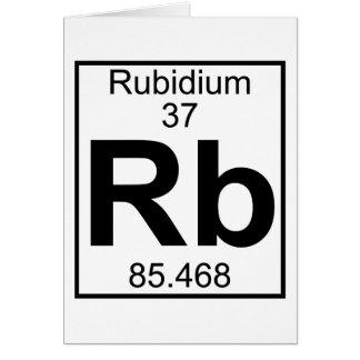 Element 037 - Rb - Rubidium (Full) Greeting Cards