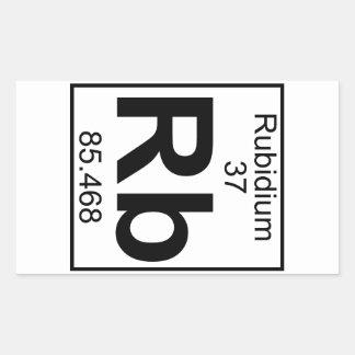 Element 037 - Rb - Rubidium (Full) Rectangular Sticker