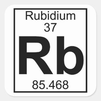 Element 037 - Rb - Rubidium (Full) Square Sticker